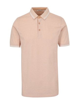 Tricou polo roz pal cu broderie ONLY & SONS Stan