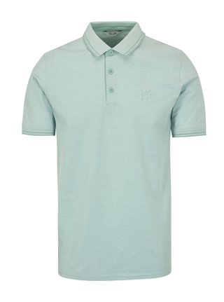 Tricou polo verde deschis cu broderie  ONLY & SONS Stan