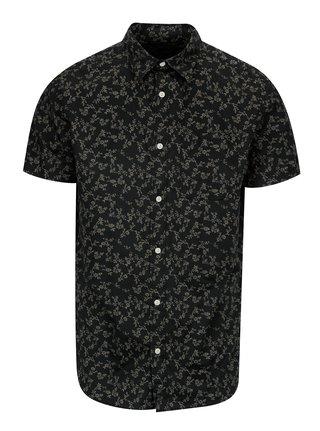 Tmavě šedá vzorovaná košile Jack & Jones Premium Jamie