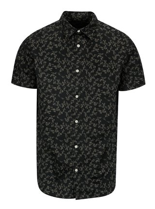 Tmavosivá vzorovaná košeľa Jack & Jones Premium Jamie