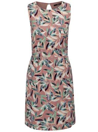 Starorůžové vzorované šaty s průstřihem na zádech ONLY Nova Caroline