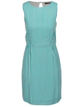 Bílo-zelené šaty s pruhy ONLY Nova Caroline