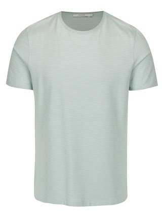 Světle zelené pruhované tričko Jack & Jones Premium Henry