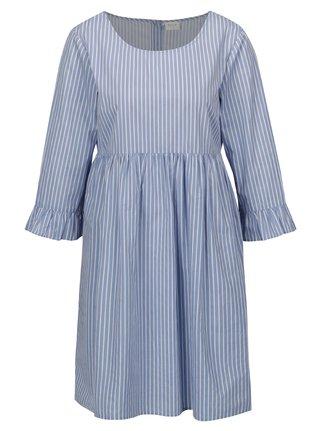 Modro-biele pruhované šaty VILA Zolta