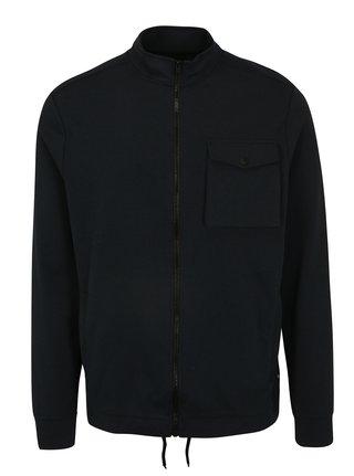 Bluza sport bleumarin cu buzunare si guler inalt -  Burton Menswear London