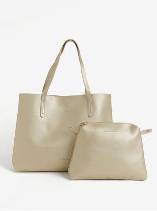 Geanta shopper aurie cu portofel detasabil - Claudia Canova Ophelia