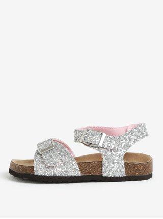 Třpytivé holčičí sandále ve stříbrné barvě Tom Joule Tipytoes
