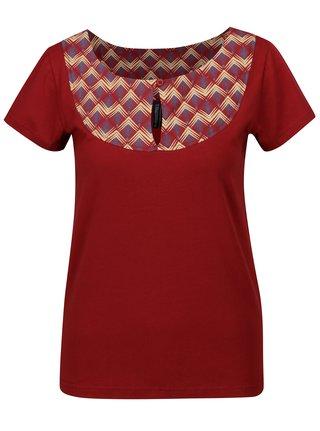 Tricou rosu cu print geometric Tranquillo Loreley