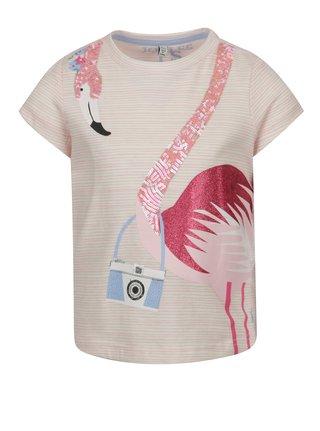 Růžové holčičí tričko s potiskem Tom Joule Astra