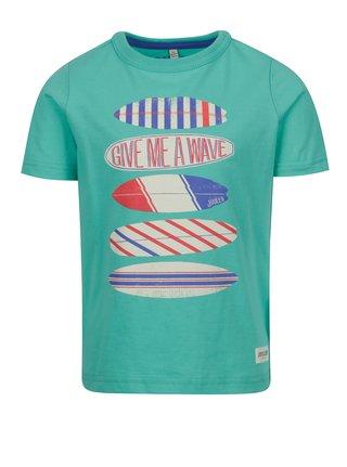 Zelené chlapčenské tričko s potlačou Tom Joule Ben
