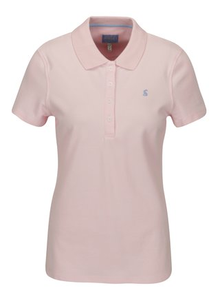 Tricou polo roz pal cu broderie pentru femei Tom Joule Pippa