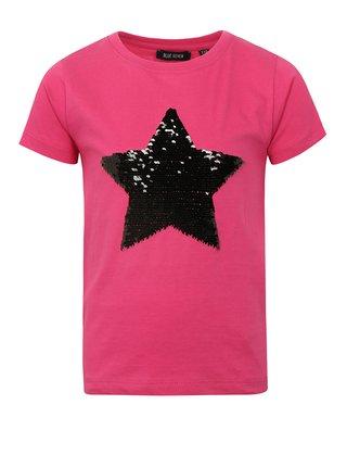 Ružové dievčenské tričko s magickými flitrami Blue Seven