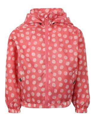 Ružová dievčenská tenká bodkovaná bunda Blue Seven