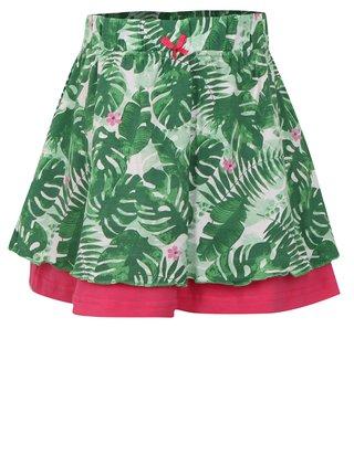 Zelená holčičí vzorovaná sukně Blue Seven