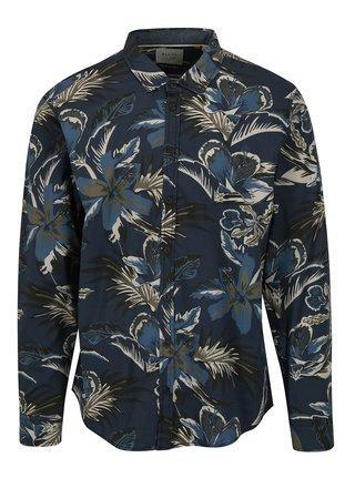 Camasa slim fit bleumarin cu print floral Blend