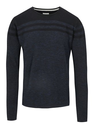 Pulover bleumarin subtire slim fit - Blend