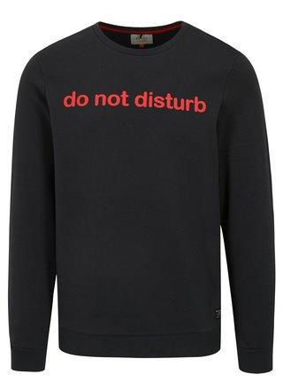 Bluza sport gri inchis cu print text Blend