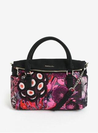 Čierna vzorovaná kabelka Desigual Bora Bora Loverty