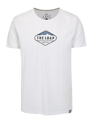 Tricou alb basic cu logo LOAP Bandos