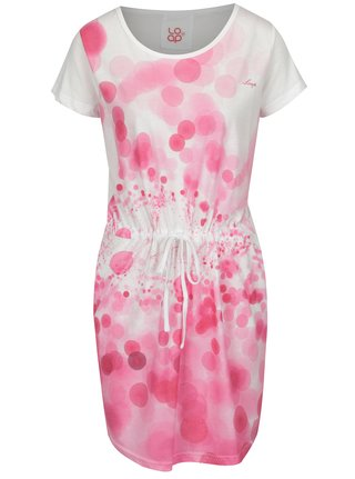 Ružovo-biele vzorované šaty s vreckami LOAP Bubba