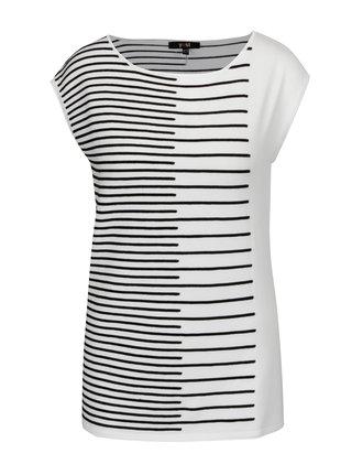 Tricou alb-negru tricotat cu model - Yest