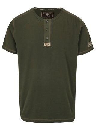 Tmavozelené pánske tričko BUSHMAN Caredo