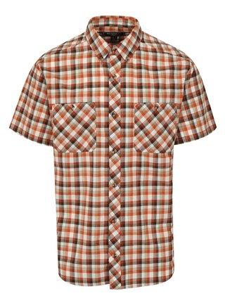Krémovo-tehlová károvaná košeľa BUSHMAN Creole
