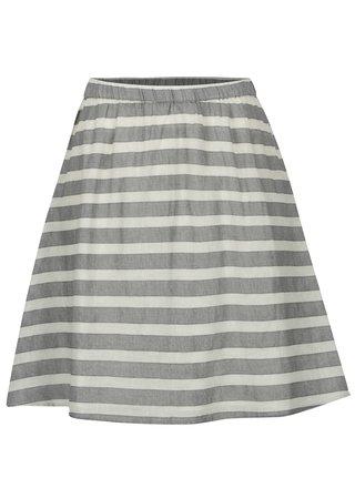 71f5a6eeed5d Krémovo-sivá pruhovaná sukňa VILA Dehia