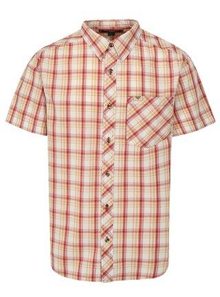 Červeno-žltá pánska károvaná košeľa BUSHMAN Inez