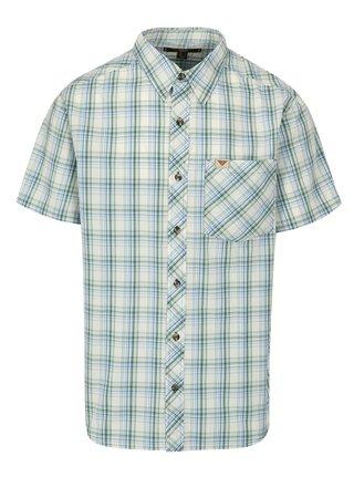 Zeleno-krémová pánska károvaná košeľa BUSHMAN Inez