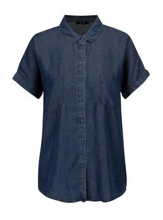Camasa albastra din denim cu buzunare - Yest