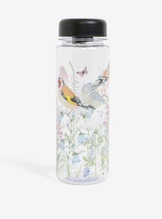Fľaša na vodu s motívom vtáčikov a kvetín Sass & Belle Garden birds