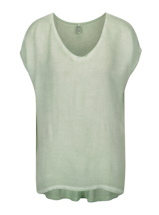 Tricou asimetric verde deschis Blendshe Jin