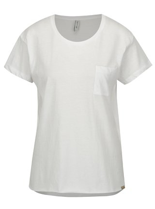 Tricou asimetric alb cu buzunar Blendshe Mal