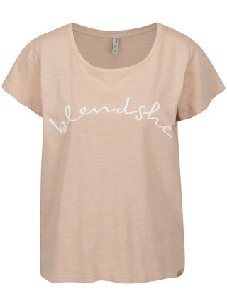Svetloružové tričko s potlačou Blendshe Cute