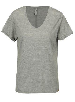 Svetlosivé melírované tričko s véčkovým výstrihom Blendshe Vibe