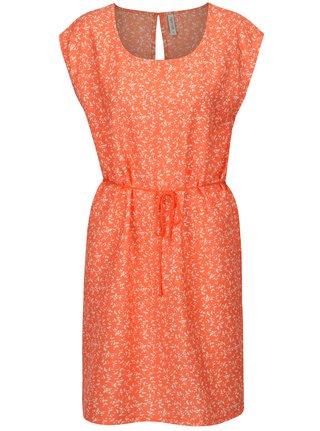 Oranžové šaty s drobným vzorom Blendshe Mally