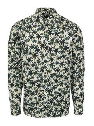 Zeleno-krémová košile s palmami Dedicated Beach Palms