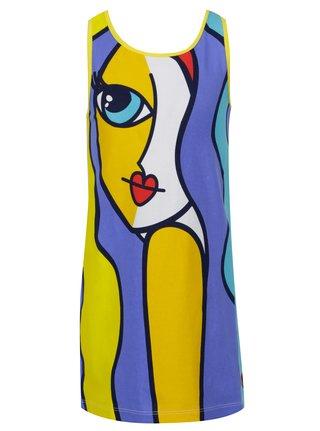 Modro-žluté holčičí šaty tuc tuc Jersey