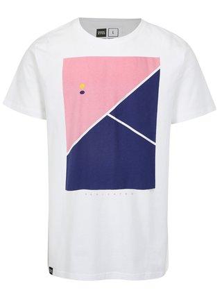 Bílé tričko s potiskem Dedicated Tennis Court
