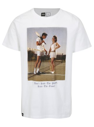Tricou alb cu print fotografie Dedicated Player