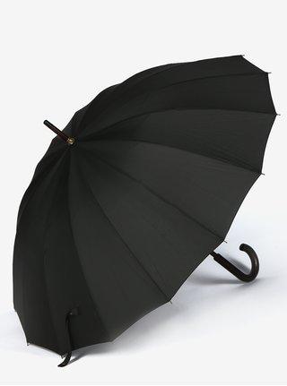 Umbrela neagra barbateasca cu maner din lemn - Derby