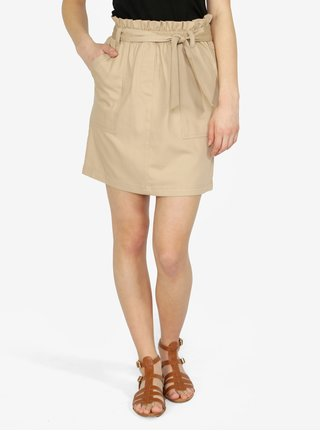 Béžová sukňa s opaskom ONLY Alexandra