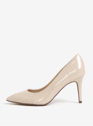 Pantofi cu toc roz pal din lac Dorothy Perkins
