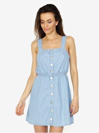 Rochie sarafan albastra cu nasturi -Miss Selfridge
