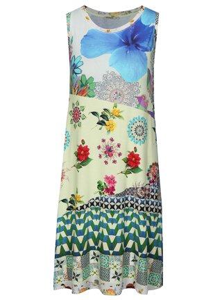 Modro-zelené vzorované šaty Desigual Malena