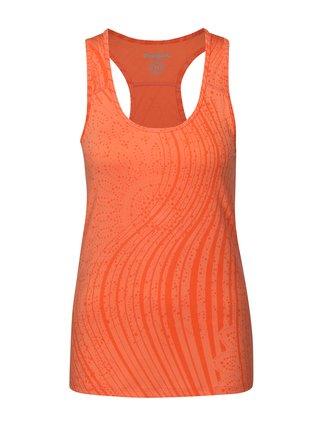 Oranžové sportovní tílko s abstraktním vzorem Desigual Sport