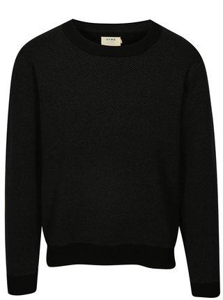 Sivo–čierny vzorovaný sveter HYMN