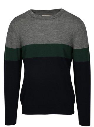 Sivo-modrý sveter z Merino vlny HYMN