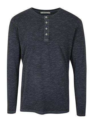 Bluza basic bleumarin cu nasturi Jack & Jones Wolfsburg